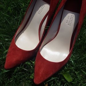 Barneys New York Red high heel pumps